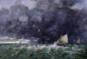Eugène Boudin - Rough Seas