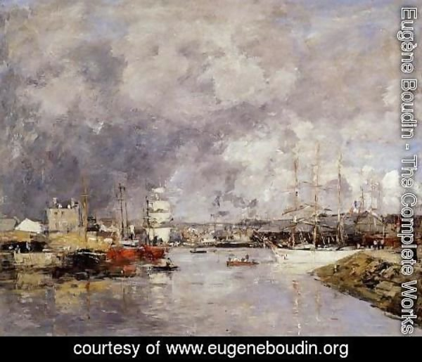 Eugène Boudin - The Port of Dieppe