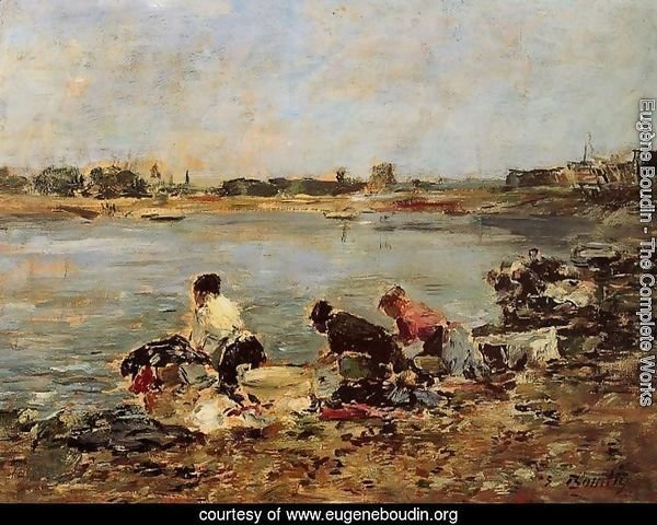 Laundresses on the Banks of the Touques I