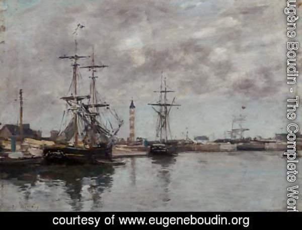 Eugène Boudin - The Port of Deauville II