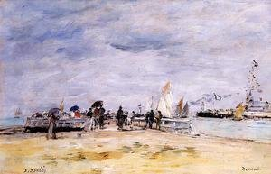 Eugène Boudin - Deauville, the Jetty