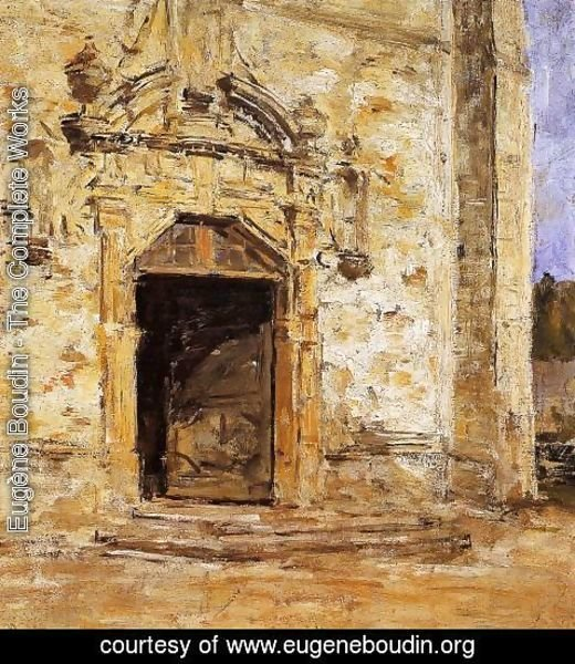 Eugène Boudin - Door of the Touques Church
