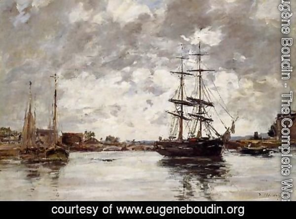 Eugène Boudin - Bridge over the Touques