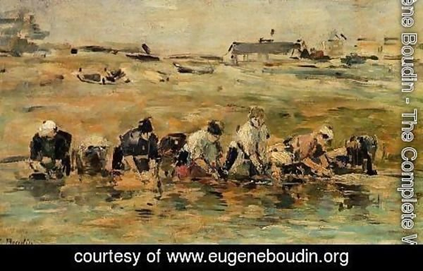 Eugène Boudin - Study of Laundresses