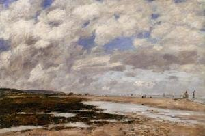 Eugène Boudin - The Beach, Deauville