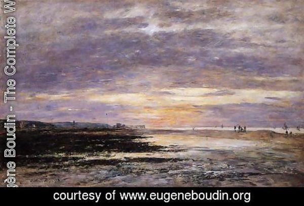 Eugène Boudin - Deauville, Sunset on the Beach