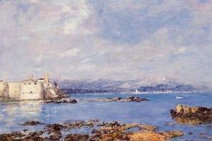 Eugène Boudin - The Rocks of l'Ilette and the Fortifications