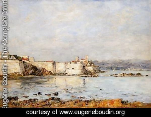 Eugène Boudin - Antibes, the Fortifications