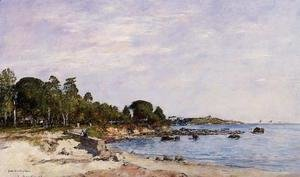 Eugène Boudin - Juan-les-Pins, the Bay and the Shore