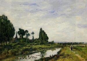 Eugène Boudin - Small Canal at Quilleboeuf