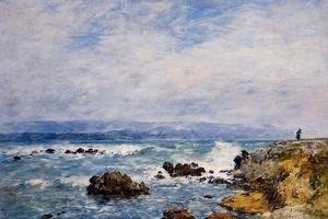 Eugène Boudin - Antibes, the Point of the Islet