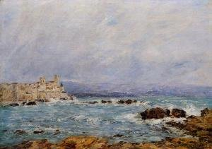 Eugène Boudin - Antibes, the Rocks of the Islet