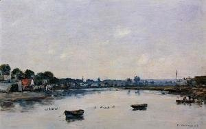 Eugène Boudin - The Banks of the Touques