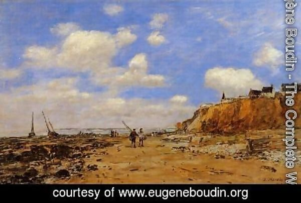 Eugène Boudin - Shoreline with Rising Tide, October