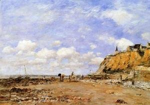 Eugène Boudin - The Shore at Villerville