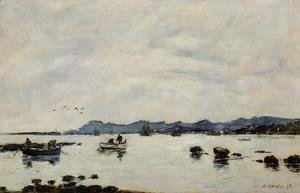 Eugène Boudin - Golfe-Juan, the Bay and the Mountains of Esterel
