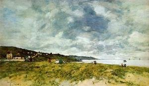 Eugène Boudin - The Shore at Tourgeville