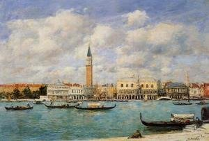Eugène Boudin - Venice, the Campanile, View of Canal San Marco from San Giorgio