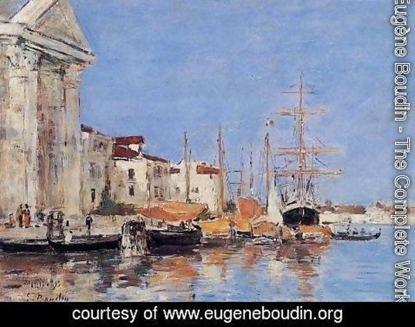 Eugène Boudin - Venice, the Customs House
