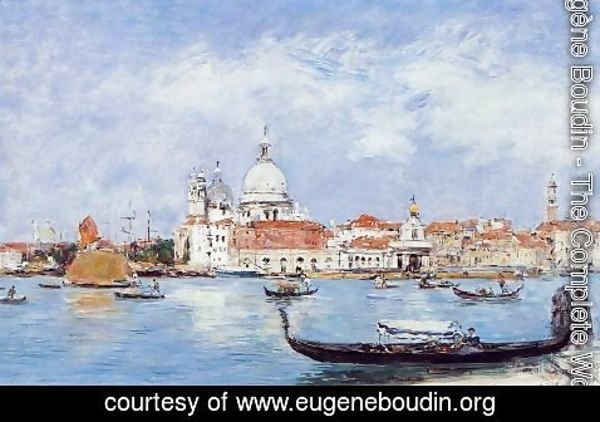 Eugène Boudin - Venice, View from the Grand Canal