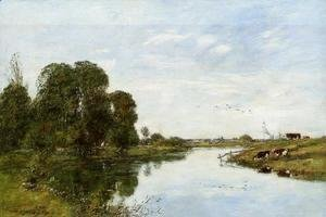 Eugène Boudin - The Toques at Saint-Arnoult I