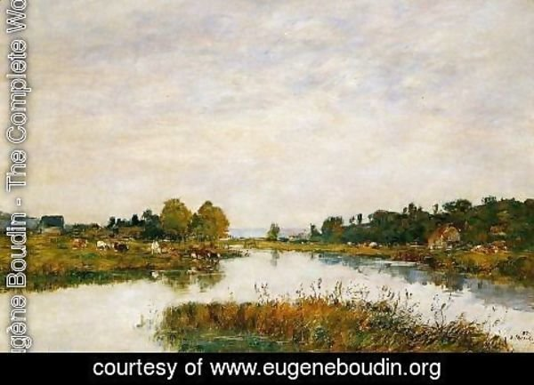 Eugène Boudin - The Still River at Deauville