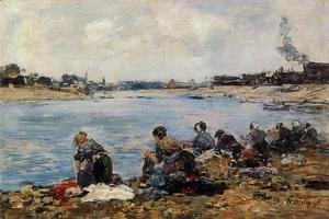 Eugène Boudin - Laundresses on the Banks of the Touques V