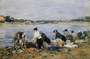 Eugène Boudin - Laundresses