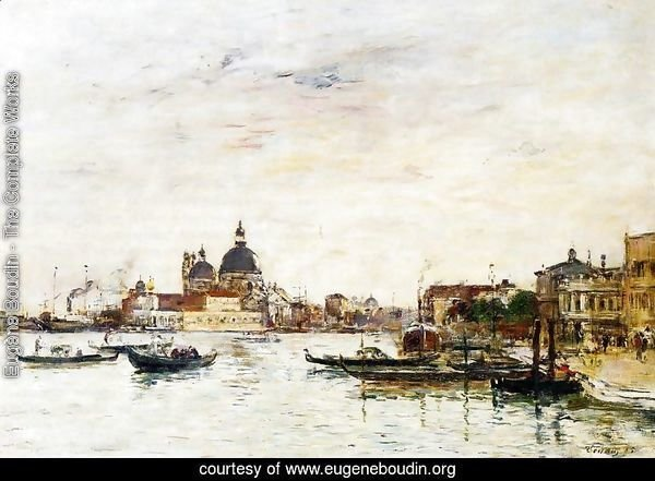 Venice, the Mole at the Entrance of the Grand Canal and the Salute