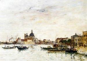 Eugène Boudin - Venice, the Mole at the Entrance of the Grand Canal and the Salute
