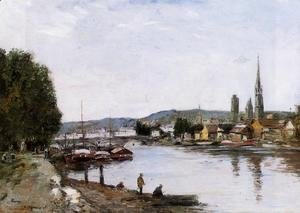 Eugène Boudin - Rouen, View from the Queen's Way