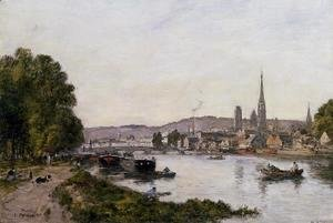 Eugène Boudin - Rouen, View over the River Seine