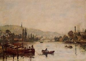 Eugène Boudin - Rouen, the Santa-Catherine Coast, Morning Mist