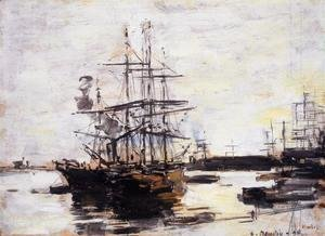 Eugène Boudin - Vessel at Anchor outside of Venice