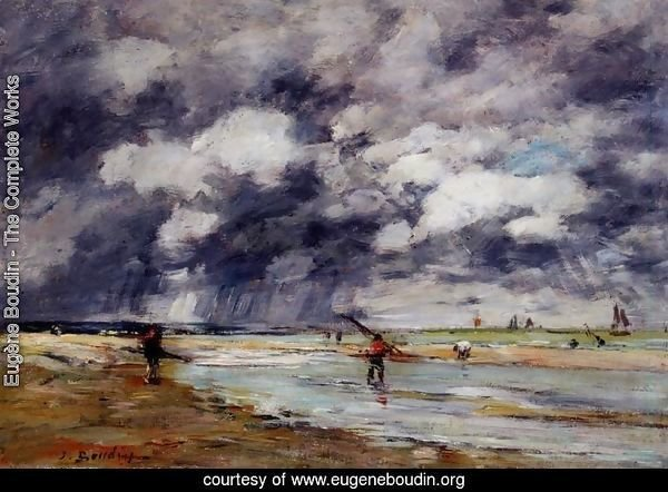 Shore at Low Tide, Rainy Weather, near Trouville