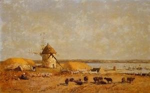 Eugène Boudin - View from the Camaret Heights