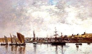 Eugène Boudin - Camaret, the Port
