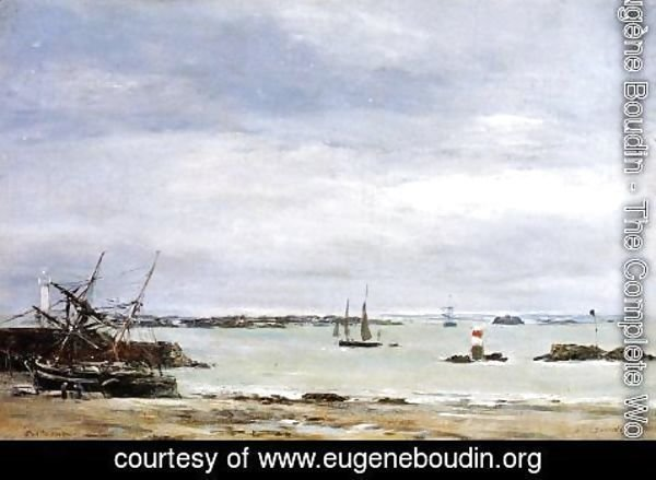 Eugène Boudin - Portreiux, the Port at Low Tide