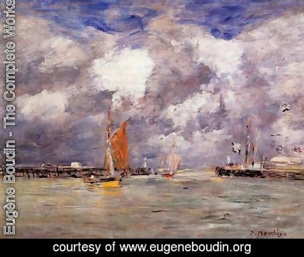 Eugène Boudin - Bortreux, the Port