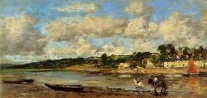Eugène Boudin - Le Faou, Banks of the River