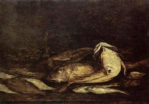 Eugène Boudin - Mullet and Fish