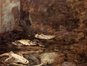 Eugène Boudin - Fish, Skate and Dogfish