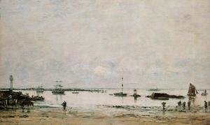 Eugène Boudin - Portrieux, the Port, Low Tide