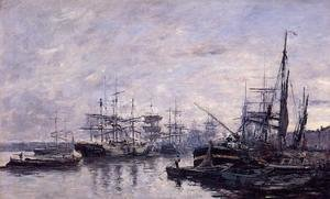 Eugène Boudin - Bordeaux, the Port