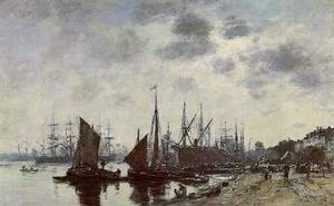Eugène Boudin - Bordeaux, Bacalan, View from the Quay