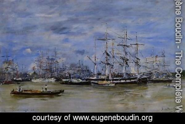 Eugène Boudin - Bordeaux, the Port I