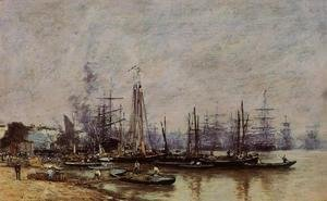 Eugène Boudin - Bordeaux, the Port II