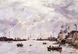 Eugène Boudin - Le Havre, the Outer Port