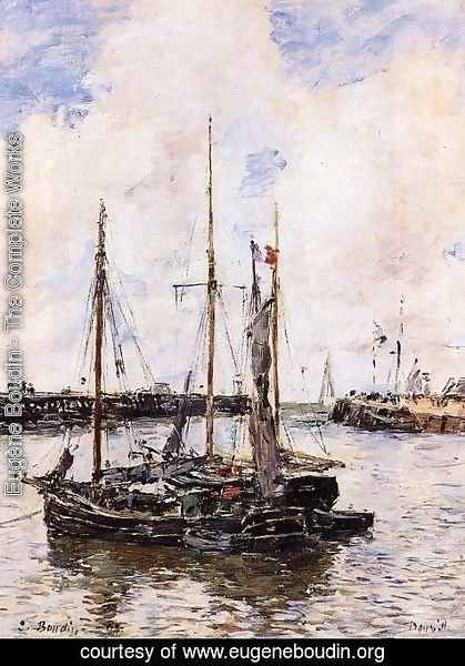 Eugène Boudin - Entrance to the Port of Trouville
