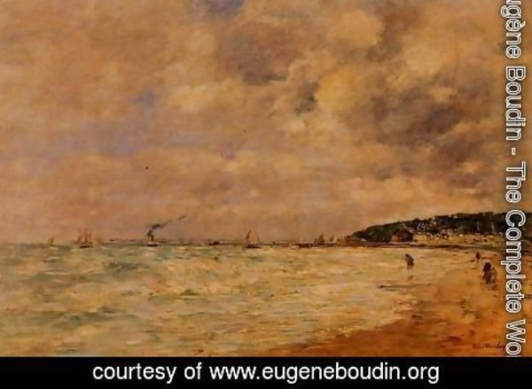 Eugène Boudin - The Tourgeville Shores